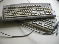 Two old style keyboards