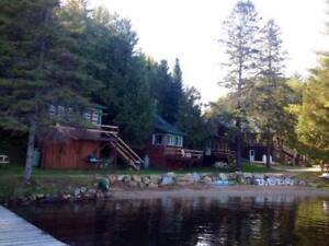 Cabins for rent right in front of the beach ! 1 hour of Ottawa