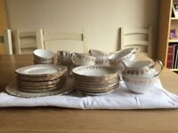 12 piece Royal Vale Vintage Bone China Tea Set