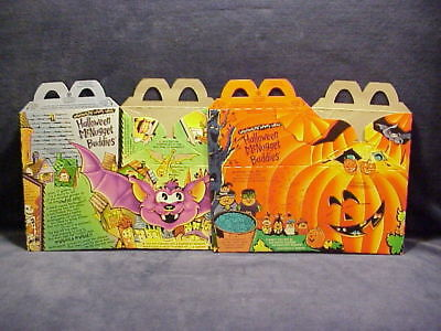 1993 MC DONALDS HALLOWEEN MC NUGGET 2 HAPPY MEAL BOXES NEVER USED HTF ()