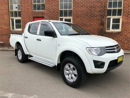 2015 Mitsubishi Triton MN MY15 GLX White Manual Utility Hamilton North Newcastle Area Preview