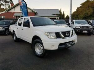 2011 Nissan Navara D40 MY11 RX (4x2) White 6 Speed Manual Dual Cab Pick-up