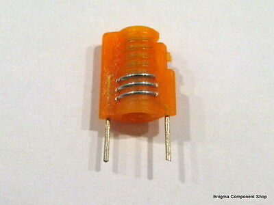 Miniature Moulded Variable Inductor. 3.5t Orange 30-51nh. Mini S18 Ukseller