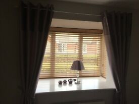 3 wood venetian blinds - suitable for a bay window or Individually Priced