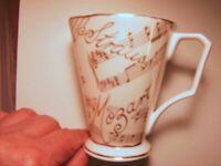 NEW Item ** MUSIC-THEMED ** BONE CHINA GIFT MUG £5