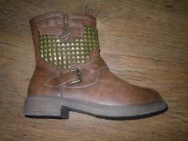 Womens Ankle Biker Boots