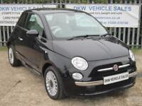 """FIAT 500 1.2 LOUNGE A/C BLACK 2012 (12) ONLY 39K FSH / ONE OWNER / 15"""" ALLOYS!!!"""