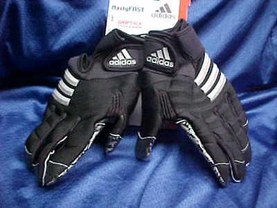 best website c5f00 ffb07 Adidas Nasty Fast Miami Hurricanes Football Gloves Black Silver A0403 Size  4XL