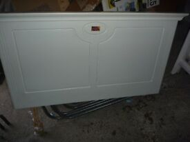 White painted wood double bedhead