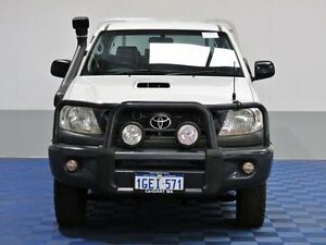 2011 Toyota Hilux KUN26R MY11 Upgrade SR (4x4) White 5 Speed Manual Dual Cab Pick-up Jandakot Cockburn Area Preview