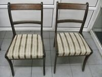 2 chairs .