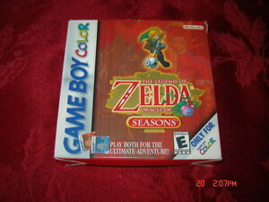 LEGEND OF ZELDA ORACLE OF SEASONS GAMEBOY COLOR COMPLET RARE