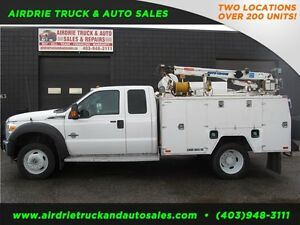 2012 Ford Super Duty F-550 DRW XLT Service Body Crane Vmac!!