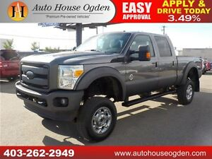 2013 Ford F350 Lariat DIESEL LIFTED LEATHER ROOF NAV BCAM