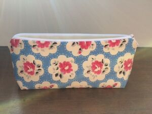 *Pencil Make Up Case Using Gorgeous Cath Kidston Electric Blue Provence Fabric*