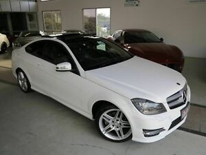 2013 Mercedes-Benz C180 C204 MY13 7G-Tronic + White 7 Speed Sports Automatic Coupe Albion Brisbane North East Preview