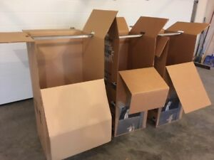 Moving? 3 U-Haul Wardrobe Storage Boxes