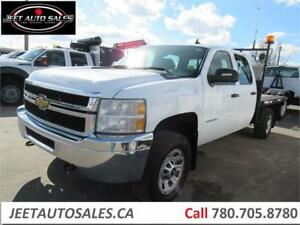2011 Chevrolet  3500HD 4x4 Crew Cab Flat bed Truck