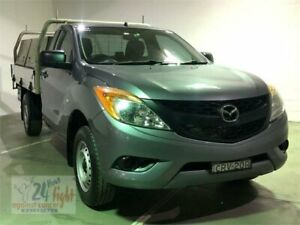 2013 Mazda BT-50 UP0YD1 XT Grey Manual Cab Chassis Campbelltown Campbelltown Area Preview