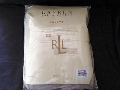 Ralph Lauren Home Estate 100% Cotton FULL / QUEEN Bed Blanket Cream