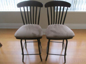 Bar Stools swivel barely used excellent condition