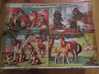 Assortment of 9 Vintage Jigsaws for collecting or car boot