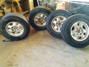 4 - 16inch Toyo Tires with Chrome Wheels