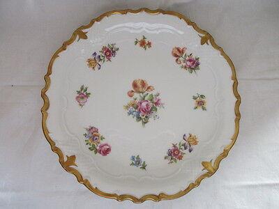 Reichenbach wunderschöne alte Prunkschale Platte Teller Blume Golddekor Ø 26 cm