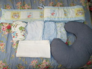 Crib Bed Set lot ~Beatrix Potter Peter Rabbit bumper pad + more