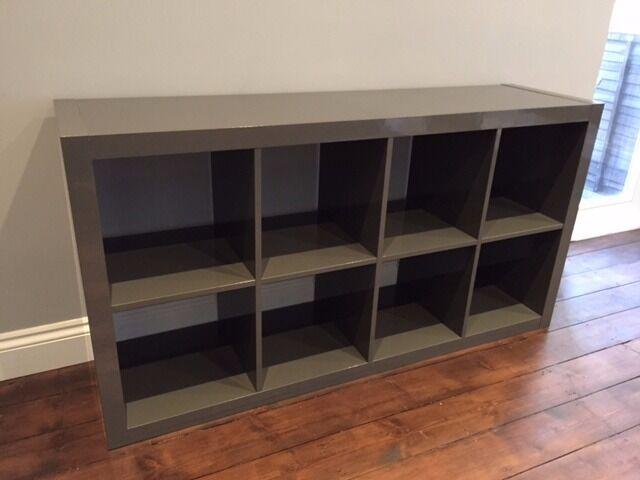 ikea kallax grey gloss shelving unit 30 in lewisham. Black Bedroom Furniture Sets. Home Design Ideas