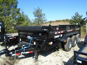 PJ TRIPLE AXLE DUMP TRAILER 21,000LB 7 X 16' BED YOUR BEST PRICE London Ontario image 6
