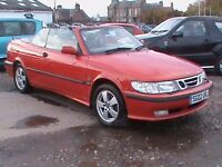 SAAB 9-3 SE TURBO CONVERTABLE RED WELL MAINTAINED NEW TURBO CLUTCH ETC CLICK INTO VIDEO LINK TO SEE