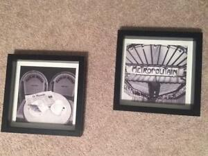 Paris theme Decorative Shadow Boxes - Excellent condition