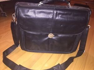 Leather laptop bag -Dell