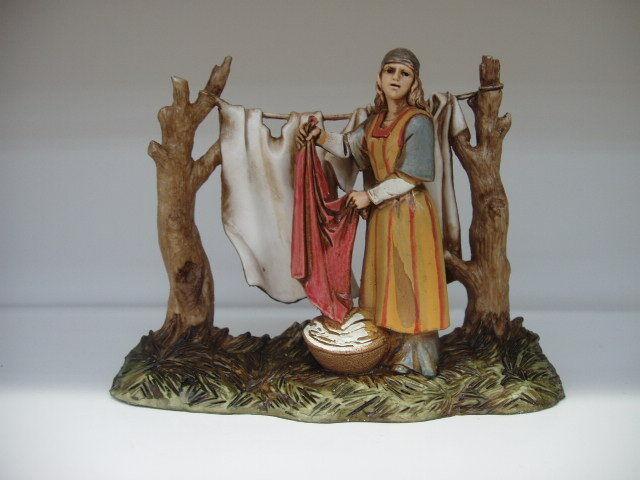 Nativity Scene Villager Figurine Landi Presepio Figura para Pesebre Nacimientos