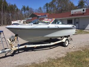 1989 Elite 166 Cadorette with 120 hp IO and Northtrail trailer