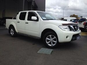 2012 Nissan Navara D40 MY12 ST (4x4) Arctic White 5 Speed Automatic Dual Cab Pick-up Beckenham Gosnells Area Preview