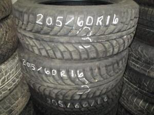 205/60 R16 WINTERS GT RADIAL SNOW USED TIRES (SET OF 2) - APPROX. 80% TREAD