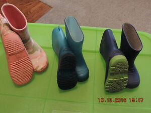 Toddler's Size 5 & 6 & Girl's Size 10 Rain Boots