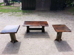 Barn Board Coffee and End table set