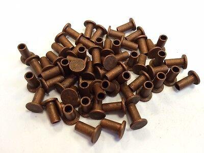 100 Nieten Niete 6x12 mm Kupfer DIN 7338B für Bremsbelag Bremsbeläge