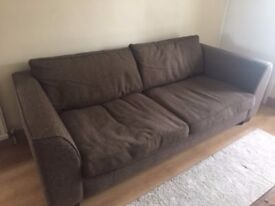 3 seater fabric sofa in a very good condition