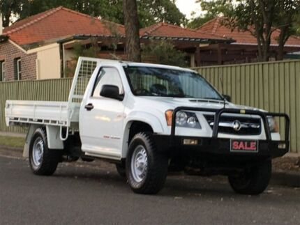 2009 Holden Colorado RC MY10 DX (4x4) White 5 Speed Manual Cab Chassis