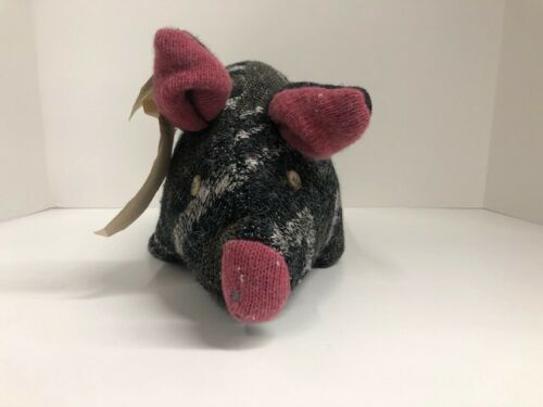 Pear Tree Studio - Plush Hand-Crafted 100% Recycled Sweater Pig - Home Decor