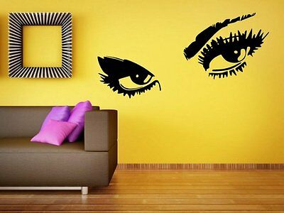 Sexy Eyes Wall Sticker Vinyl Decal Removable Wall Car Fridge