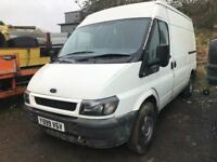 2001 Ford Transit diesel van, starts and drives, being sold as seen due to no MOT, also has a smashe