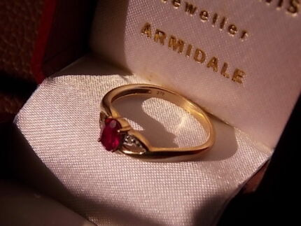 Solid 9ct Gold Ruby Ring Armidale City Preview