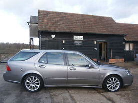 56 SAAB 9-5 2.3t AUTOMATIC VECTOR SPORT ESTATE/TOURING LUNAR GREY BLACK LEATHER