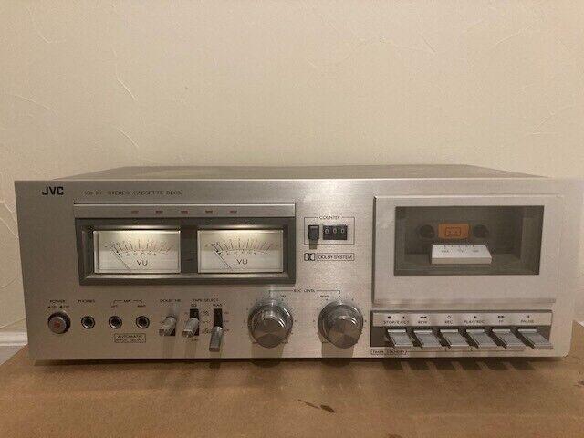 Vintage Silver JVC KD-10 Stereo Cassette Deck Tape Player Recorder works