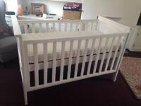 Beautiful solid wood cot-bed with mattress